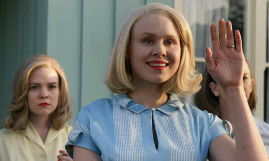 Wave of terror … Alison Pill leads the welcome.