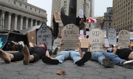 Women's March Alliance Die-in For Healthcare in New York