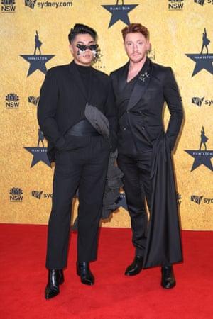 Men in black: Sheldon Riley and Zac Tomlinson.