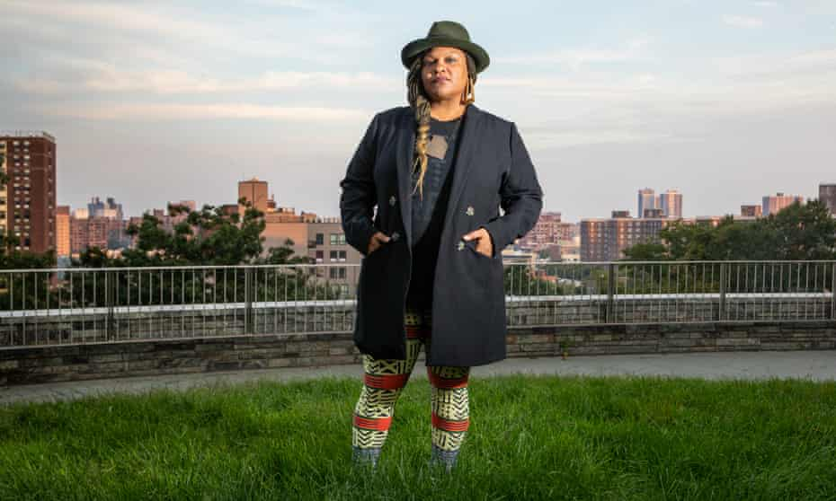 Radha Blank photographed last month in Harlem, New York, by Christopher Lane for the Observer.