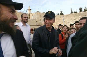 Abramovich on a previous visit to the Western Wall in Jerusalem old city in February 2006.