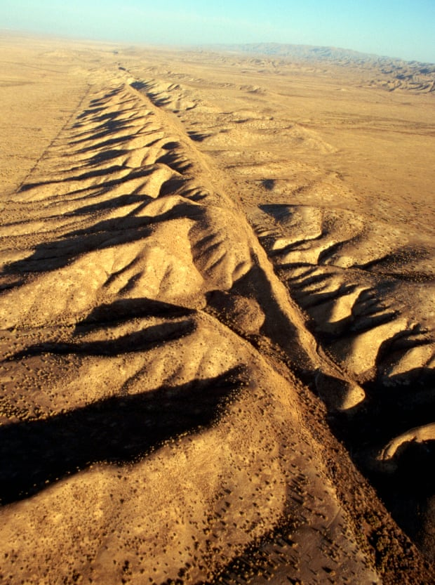 San Andreas fault in California. Photograph: Lloyd Cluff/Corbis