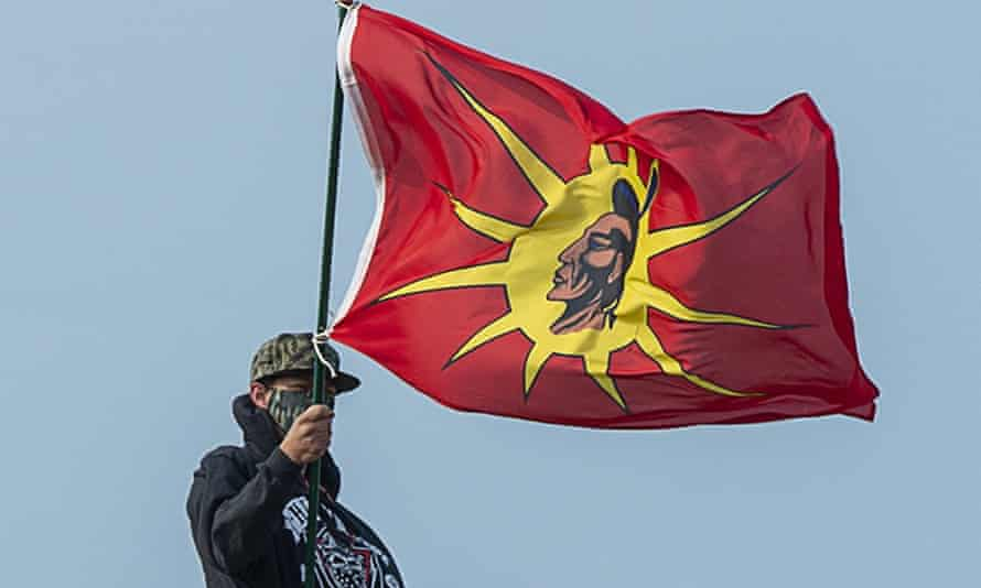 A warrior flag of the Sipekne'katik First Nation