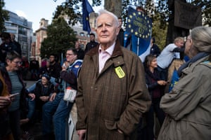 Author John Le Carré attends the 'people's vote' march