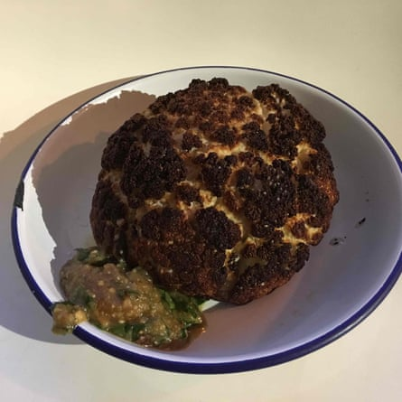 Roasted cauliflower by Julia Moskin.