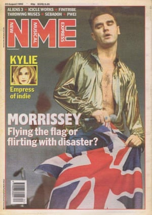 Morrissey on the 22 August 1992 cover of the NME.