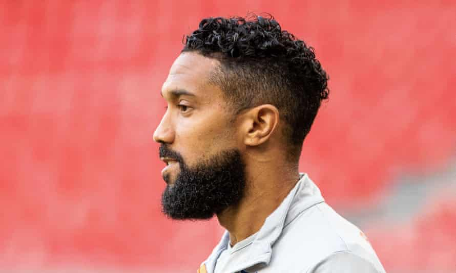 Gaël Clichy pictured last year during his time with Istanbul Basaksehir, where he won the Turkish league.
