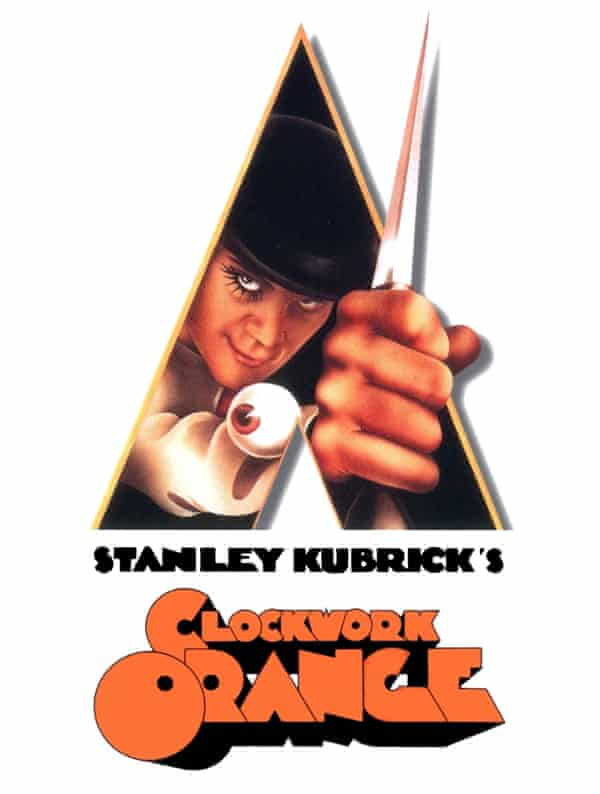 'It's very pointy' ... Philip Castle's theatrical poster for A Clockwork Orange