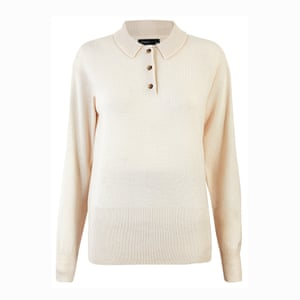 The new white shirt A white knitted polo is equally versatile; £340, by Ami, from matchesfashion.com.