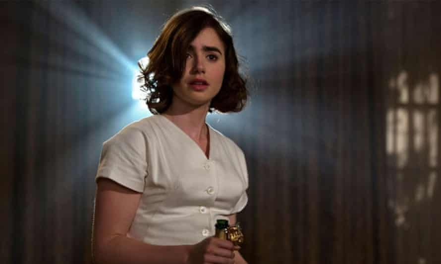 Lily Collins in Rules Don't Apply.