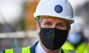 Labour Party leader Sir Keir Starmer tours construction works at The Boat Yard on April 08, 2021 in Bristol, England.