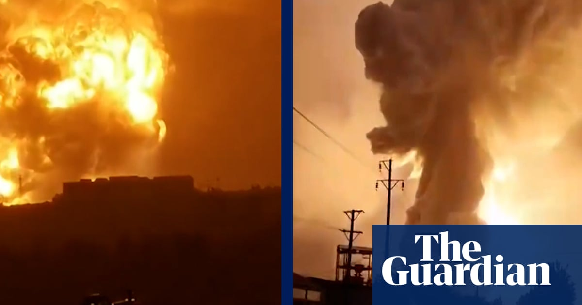 China floods: aluminium alloy plant explodes in Henan province – video