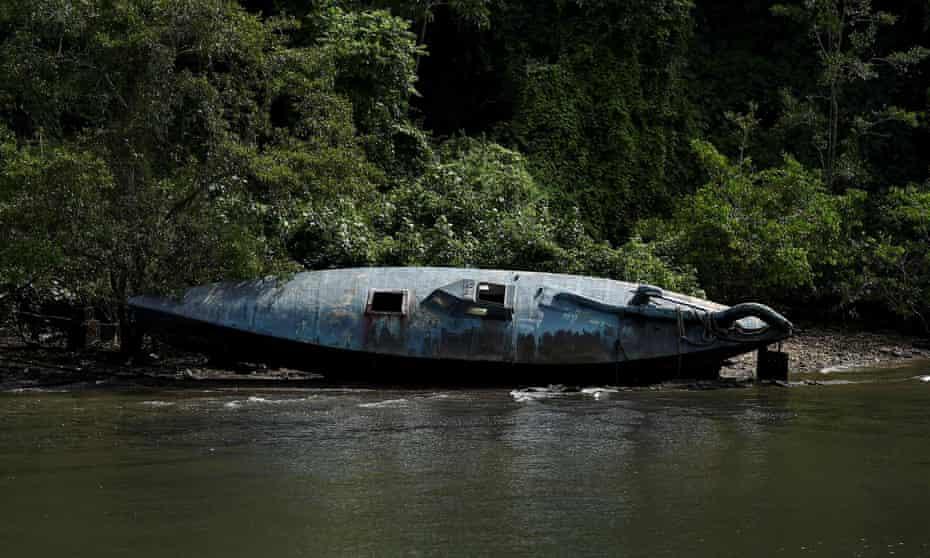 A homemade narco-submarine in Tumaco.