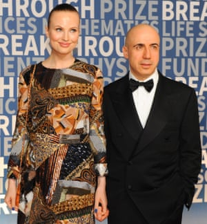 Yuri Milner with his wife, Julia.