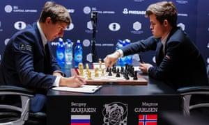 Sergey Karjakin and Magnus Carlsen battle away in New York