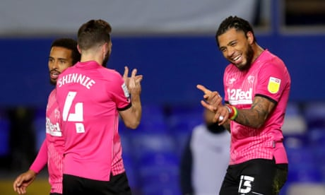 Championship roundup: Derby run riot, Farke fumes as Norwich are held by QPR
