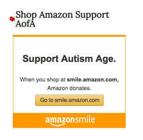 A widget on the Age of Autism site promotes shopping using AmazonSmile to fund the anti-vaccine organization.