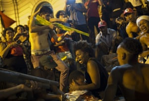 A protest against police operations in the favelas in Rio