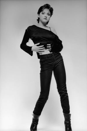 Strike a pose: the budding star in 1979.