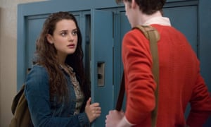 Katherine Langford and Devin Druid in 13 Reasons Why season two.