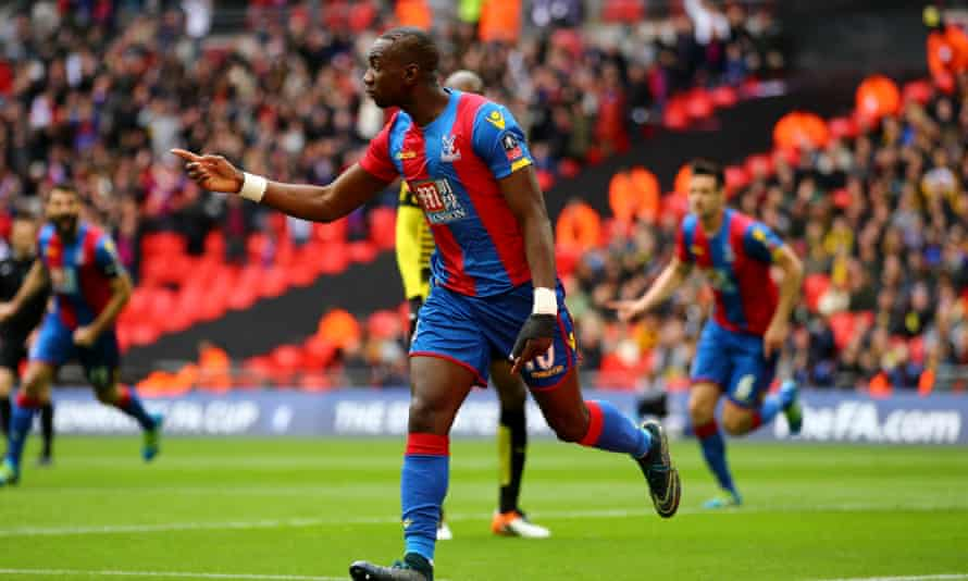 Yannick Bolasie celebrates scoring in Crystal Palace's FA Cup semi-final win over Watford