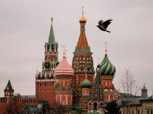 Bird flies free, at least. Downtown Moscow
