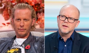 Composite image showing Laurence Fox (left) and Toby Young
