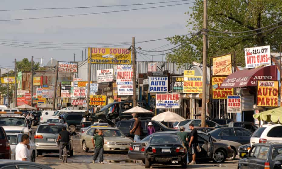 Automobile repair related businesses in Willets Point, Queens, photographed in 2008.
