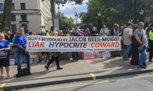 Thousands of pro-remain supporters fill Whitehall