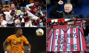 Clockwise from top left: Liverpool's Sadio Mané scores an injury-time winner at Villa Park; Sheffield United's manager Chris Wilder; a young fan of Southampton's Danny Ings; Wolves' Adama Traore.