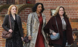 From left: Elisabeth Moss, Tiffany Haddish and and Melissa McCarthy in The Kitchen.