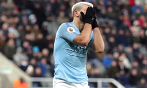 Sergio Aguero and Manchester City were not their old selves at Newcastle.
