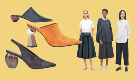 Mules (top to bottom): £69.99, Zara; £69, Topshop; £65, M&S. Cos clothes: culottes, £59; top with rib sleeves, £55; poplin shirt, £59.