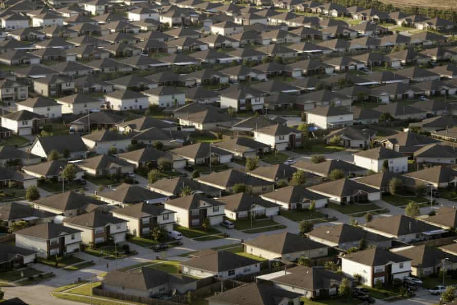 A new housing development in suburban Houston.