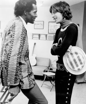 Mick Jagger and Chuck Berry At Madison Square Garden.