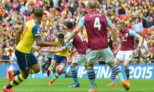 Thwack. Alexis Sanchez doubles Arsenal's lead.