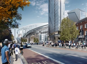 2018-19 season – an artist's impression of the view from street level