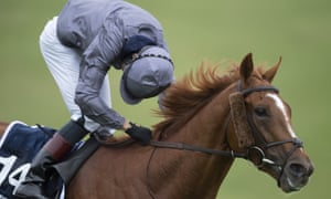 Emmet McNamara looks behind for non-existent dangers in the Derby after an all-the-way win.