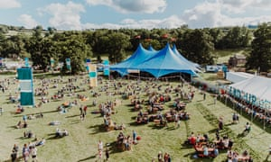 The Green Man festival donates what abandoned tents it can to refugee charities.