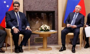 Nicolás Maduro with the Russian president Vladimir Putin.