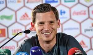 Jan Vertonghen speaks to the press as Belgium start their Euro 2016 preparations.