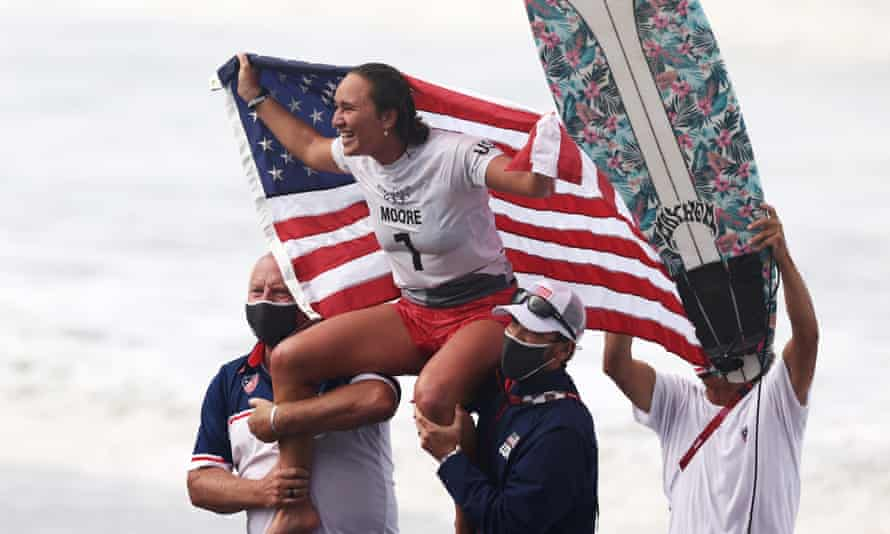 Olympic champion Carissa Moore of the US