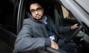Abdurzak Hadi in his cab