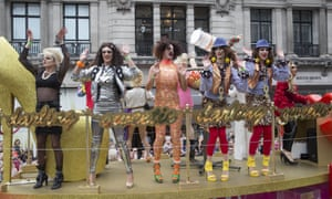 The AbFab float from last year's parade
