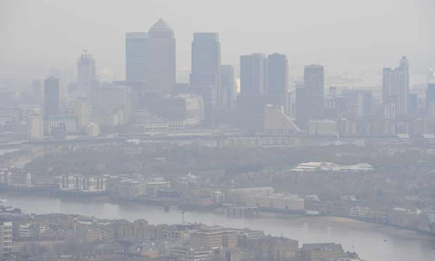 Smog over London in 2015