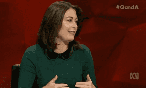 Labor's Terri Butler on the Q&A panel on Monday night