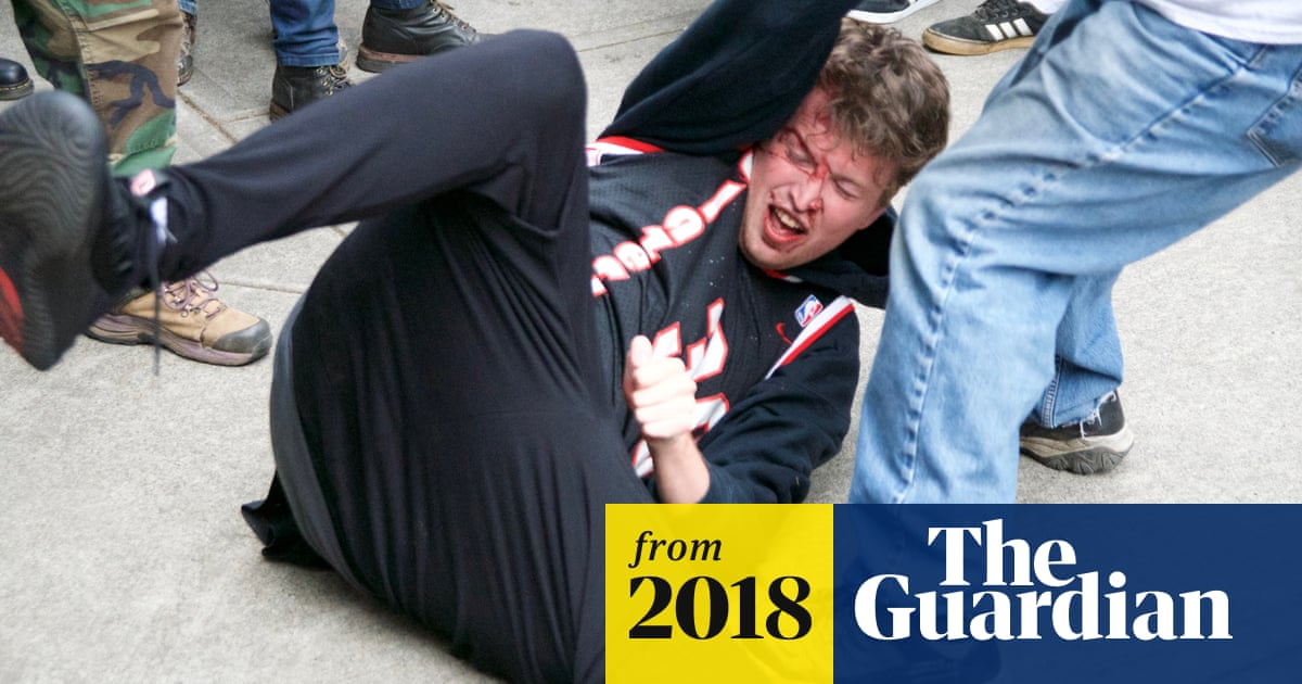Far-right group brawls with antifascist protesters in