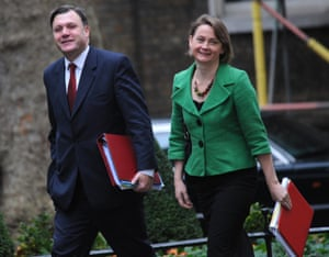 Ed Balls with his wife Yvette Cooper while both were cabinet ministers in 2009