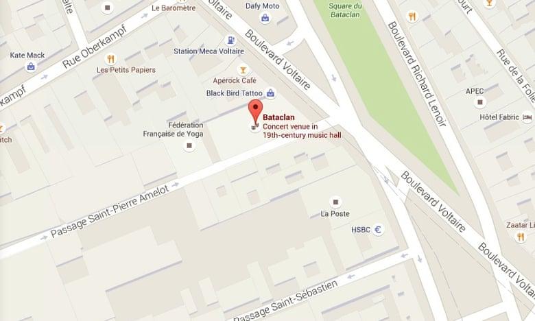 Locul unde a avut loc atacul - Google Maps