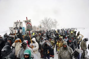 The Sioux believe the proposed pipeline would threaten their water supply.
